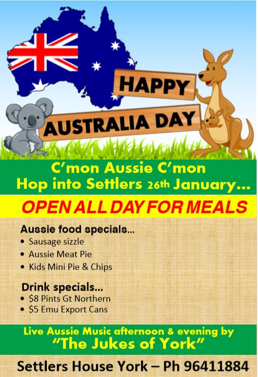 Australia Day at Settlers House