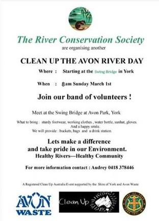 Avon River Clean up day