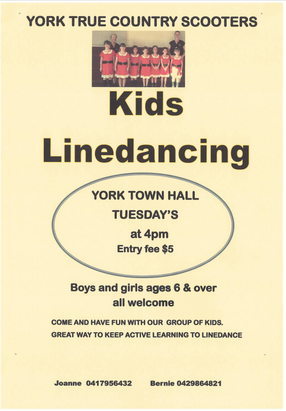 Kids Line Dancing (York True Country Scooters)