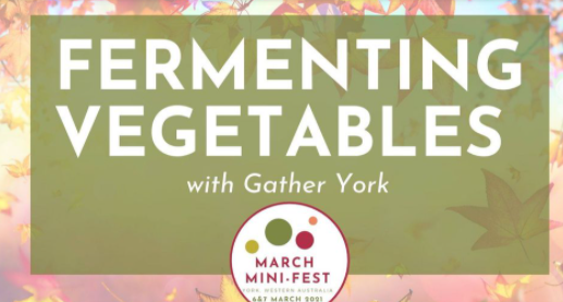 March Mini Fest - Fermenting Vegetables Workshop with Gather York