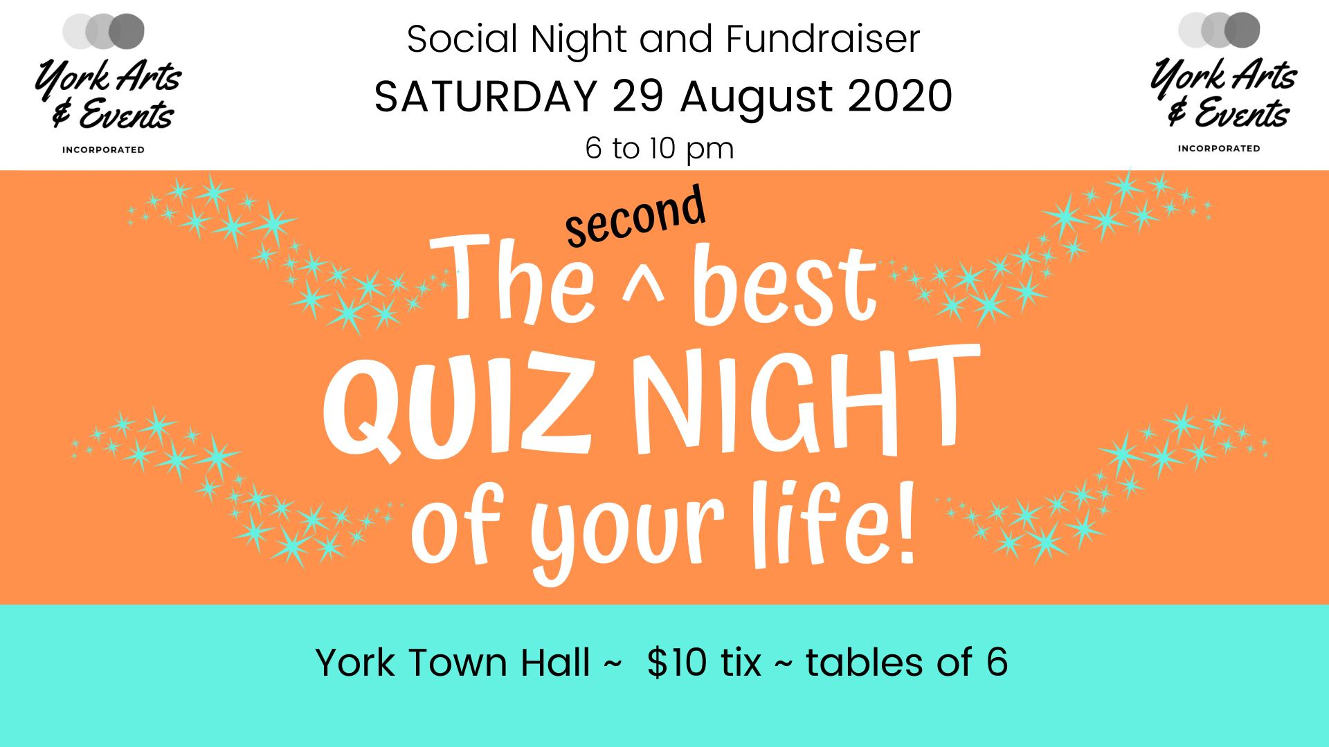 The second best QUIZ NIGHT of your life!
